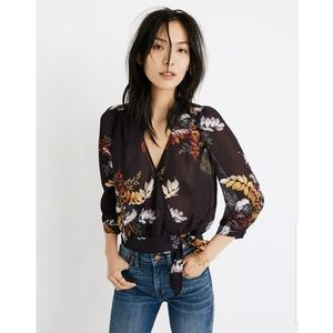 Madewell Wrap Top in Blooming Oasis